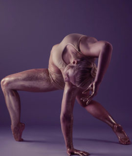 Bendy Kate national pole dance champion cover picture for home page with purple tinge