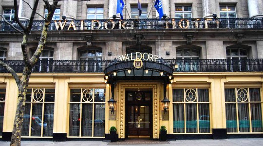 Waldorf Hilton. 5 Star Central London partner venue for LDA dance parties.