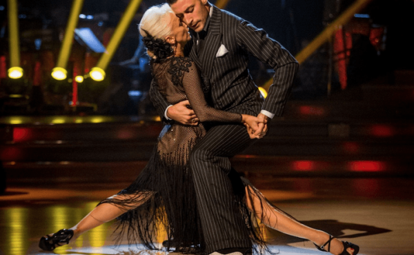 The Telegraph interview with LDA Director Melissa Grey. Picture of Strictly's Debbie McGee in semi splits pose with dance partner.