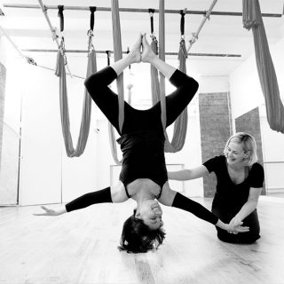 Sam and Melissa in a private lesson at London Dance Academy