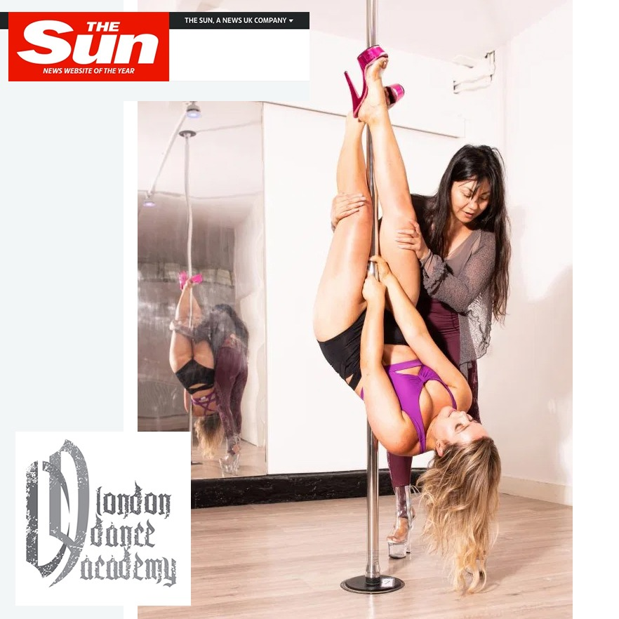 Squeeze! Lauren Clark from The Sun tries pole dancing at London Dance Academy